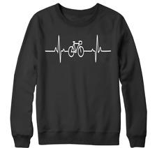 Cycle pulse Sweatshirt cyclist novelty Heartbeat bicycle sport Racing Gift top
