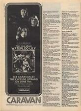 Caravan Waterloo Lily LP concert advert Time Out cutting 1972