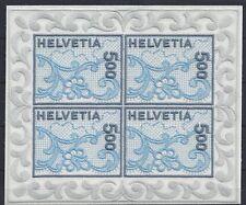 355# Schweiz Mi 1726** Kleinbogen Seidenstich, tadellos