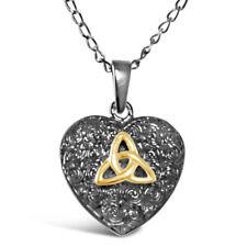 Collares y colgantes de joyería de metales preciosos sin piedras de plata de ley oro
