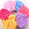 Flexible Fast Dry Microfiber Towel Hair Magic Drying Turban Wrap Hat Cap Bathing