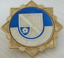 BOLTON WANDERERS FC Vintage 1970s insert type badge Brooch pin In gilt 33mm Dia