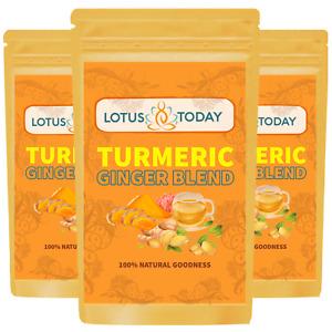 Turmeric Ginger & Black Pepper Tea, Warming, Immunity, Detox Tea, Curcumin Tea