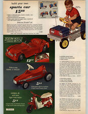 1965 PAPER AD Gilbert Erector Ride Em Set Jeep Honda Jr Play Motorcycle Toy ++