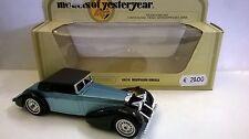MATCHBOX 1:48 AUTO DIE CAST HISPANO SUIZA 1938 CELESTE ART  Y-17  Y17