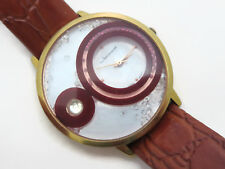 Floating Crystals Ladies Watch - Jeanneret Stowe Mother of Pearl Clear Burgundy