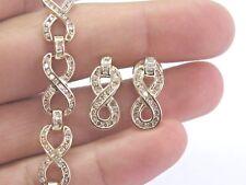 Fine Round & Baguette Diamond Yellow Gold Bracelet & Earring 3.00Ct