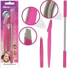 Facial Hair Removal Spring Tweezers Set For Men Women Epilator Tool Portable