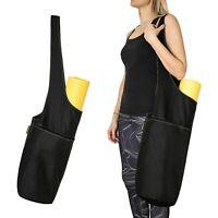Large Yoga Mat Bag 100% Cotton Yoga Mat Tote 2 Multi-Functional Storage Large