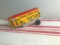 Vintage Lupor Semi Truck Trailer Citrus Fruit Toy Tin Car 1950s Lithographed