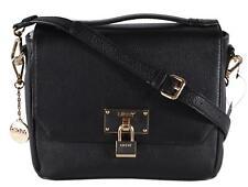New DKNY $225 Black Leather Crosby Convertible Crossbody Handbag Purse Bag