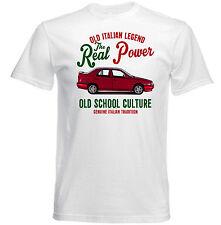 VINTAGE ITALIAN CAR ALFA ROMEO 155 REAL POWER - NEW COTTON T-SHIRT