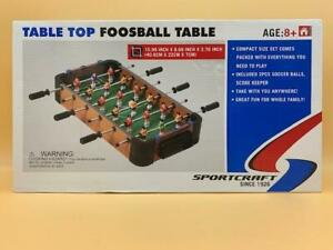 Sportcraft Table Top Foosball Soccer Football Mini Tabletop Game Toy