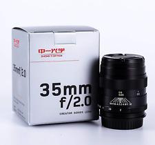 Mitakon Zhongyi Creator 35mm f/2 Lens for Sony A-Mount Camera a58 a77 II α99
