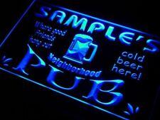 pg-tm Name Personalized Custom Neighborhood Pub Bar Beer Neon Sign