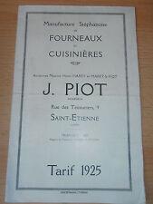 catalogue - dépliant de fonderie fourneaux Saint - Etienne 42  ( ref 3 )