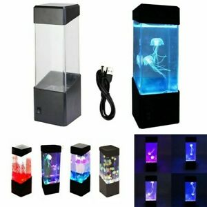 Jellyfish Volcano Lamp Aquarium Light LED Lights Night Table Light 4 Types
