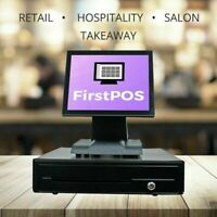 FirstPOS 12in Touch Screen POS Cash Register Till System Bar/ Clubs