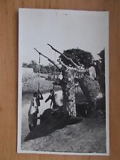 VINTAGE POSTCARD - AFRICAN NATIVES WORKING BY THE RIVER  RP