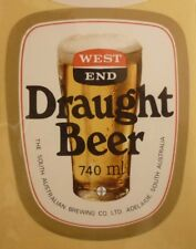 OLD AUSTRALIAN BEER LABEL, SA BREWING Co WEST END DRAUGHT 740ml 2