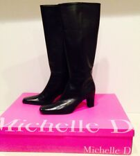 Michelle D Womens Tall Boots DARK BROWN 8 Wide 'NEW'