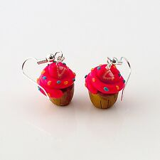 cupcake earrings strawberry cute emo retro buns sweet food drops