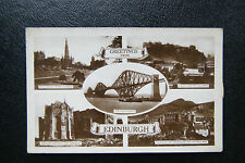 Vintage Edinburgh 1890/1900s RPPC Postcard- 5 photos, Forth Bridge, Castle, etc