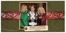 """Original Xmas Card: TV Soap Opera Cast - """"The Young And The Restless"""""""