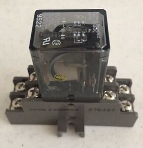 Potter & Brumfield Relay k10p-11D15-24 with 27E487 base, 24 volt DC 1/3-1/2 hp