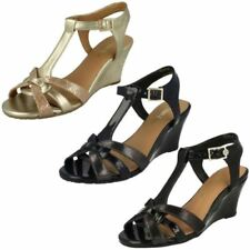 Wedge Patent Leather Sandals Heels for Women