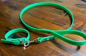 PVC Dog Collar and matching lead rope - waterproof, tough, puppy / small dog