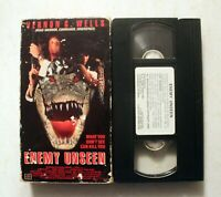 VHS: Enemy Unseen: AIP: rare, crocodile horror aligator Vernon Wells