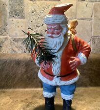 Antique Vintage Composition Cardboard Santa Candy Container W/ Toys Germany