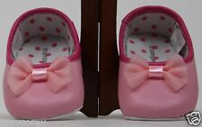 TrumpetteToo Trumpette Too Pink Bow Infant Dance Shoes Size 6-9 months NIP