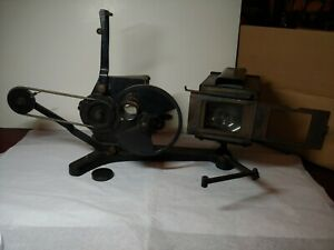 Antique 35 Mm Hand Crank Movie Film Projector National Stereoptican slides