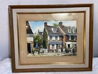 Betsy Ross House Antique Print Framed And Behind Glass. See 8 Pics. MAKE OFFER