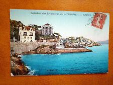 """Cpa MARSEILLE - Corniche, Palace Hôtel - Publicité Savonnerie """"La Grappe"""""""