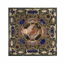 Black Marble Decorative Conference Dining Table Top Stunning Inlay Decor  E1650