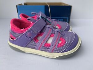 Stride Rite Girl's Liam Fisherman Sandal, Purple, Size US 10 W Kid's