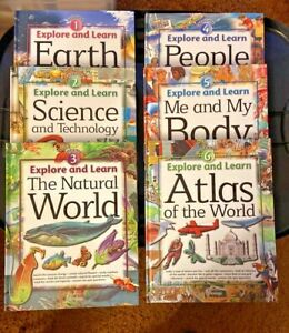 EXPLORE AND LEARN Books #1-6 Science, Geography Excellent Lightly Used Condition