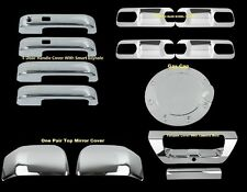 For Ford F-150 15-16 Chrome Mirror 4 DOOR HANDLE PLATE TAILGATE Gas Cap COVERS S