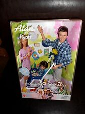 Alan & Ryan Happy Family Barbie Doll Ken Dad and Son ~ Stroller Midge box damage