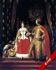 QUEEN VICTORIA & PRINCE ALBERT PORTRAIT PAINTING BRITISH ART REAL CANVAS PRINT