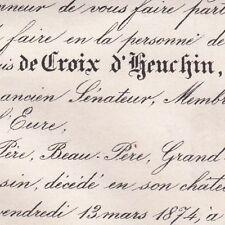 Ernest Charles Eugène Croix D'Heuchin Francwaret 1874