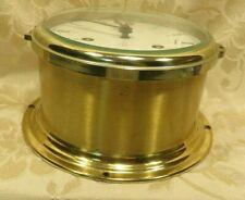 Vintage 60s -70s Schatz Royal Mariner Brass Clock `Heavy Brass W. Germany