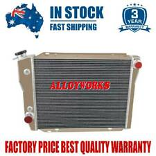 4Row/Core All Aluminum Radiator Fits Falcon XD XE 6cyl V8 AUTO/MANUAL