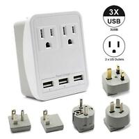 Universal International Travel AC Adapter Power Outlet Plug Converter See Descri