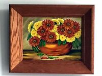 Flowers In a Bowl Still Life Art By Francis M. Reinhart - FRAMED OIL PAINTING