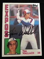 TIM WALLACH 1984 TOPPS Autograph Signed AUTO Baseball Card 232 EXPOS