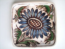 Keramik Wandteller Erhart S.K.K. Schiavon tile Art Pottery Italy 50s vintage